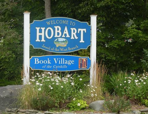Hobart Village sign
